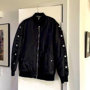 Black Scale Bomber Jacket